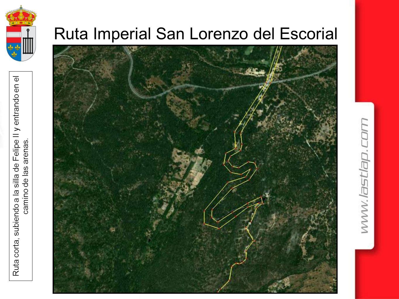 Ruta Imperial San Lorenzo del Escorial Ruta corta, subiendo a la silla de Felipe II y entrando en el camino de las arenas.