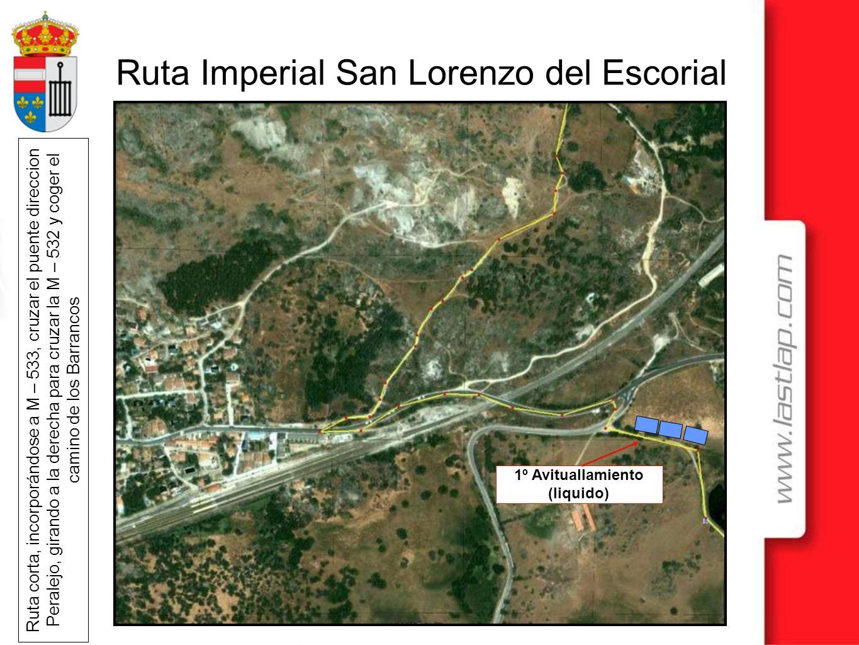 Ruta Imperial San Lorenzo del Escorial Ruta corta, incorporándose a M – 533, cruzar el puente direccion Peralejo, girando a la derecha para cruzar la