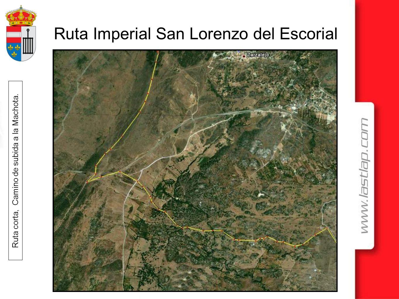 Ruta Imperial San Lorenzo del Escorial Ruta corta, Camino de subida a la Machota.