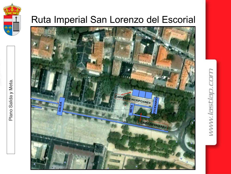 Ruta Imperial San Lorenzo del Escorial Ruta corta, nos incorporamos a las Av.