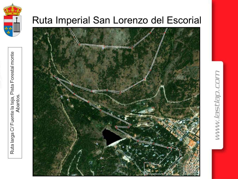 Ruta Imperial San Lorenzo del Escorial Ruta larga plano detalle del camino forestal que va desde Peguerinos a las Navas del Marques