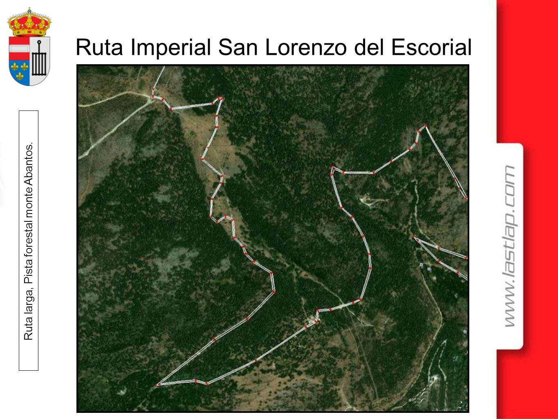 Ruta Imperial San Lorenzo del Escorial Ruta larga, Pista forestal monte Abantos hasta Malagon.