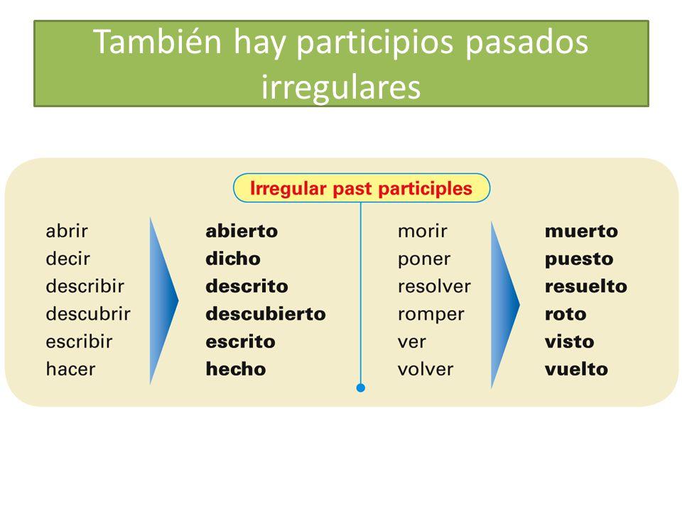 Los participios pasados se pueden usar como adjetivos en inglés y español They are often used with the verb estar to describe a condition or state that results from an action.