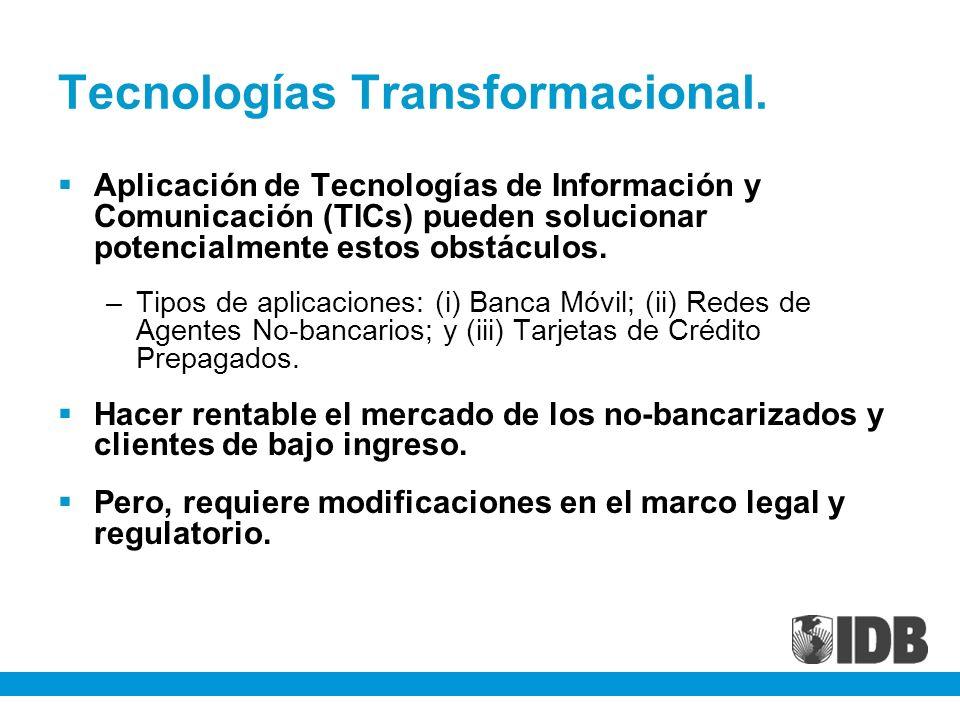 Tecnologías Transformacional. Aplicación de Tecnologías de Información y Comunicación (TICs) pueden solucionar potencialmente estos obstáculos. –Tipos