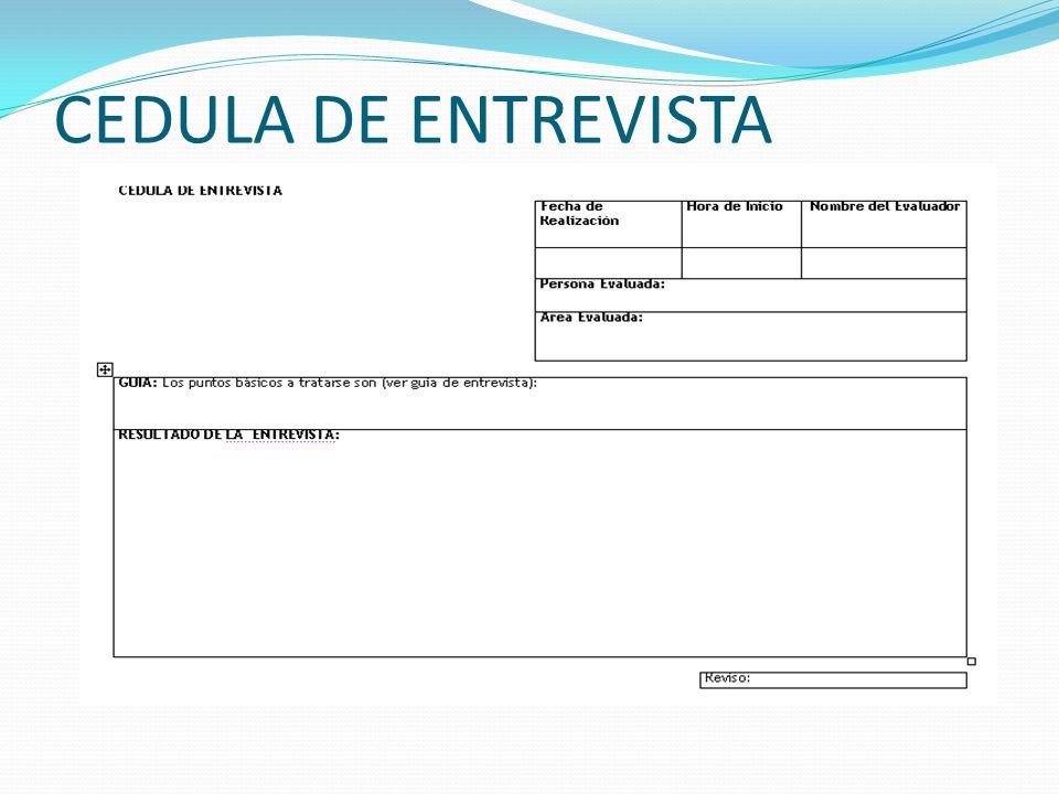 CEDULA DE ENTREVISTA