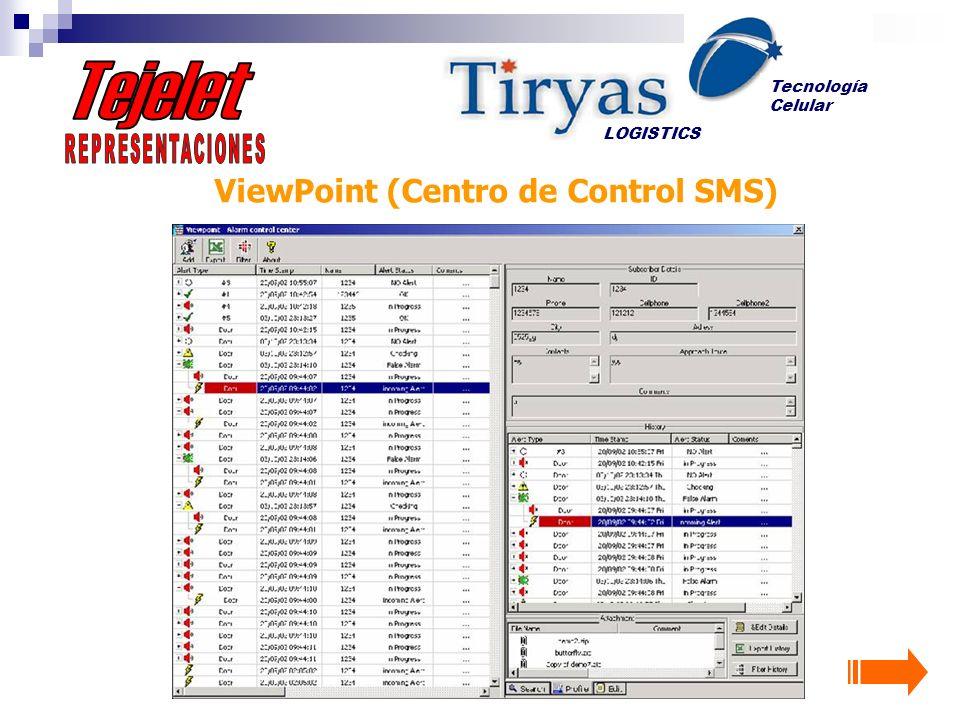 ViewPoint (Centro de Control SMS) LOGISTICS Tecnología Celular