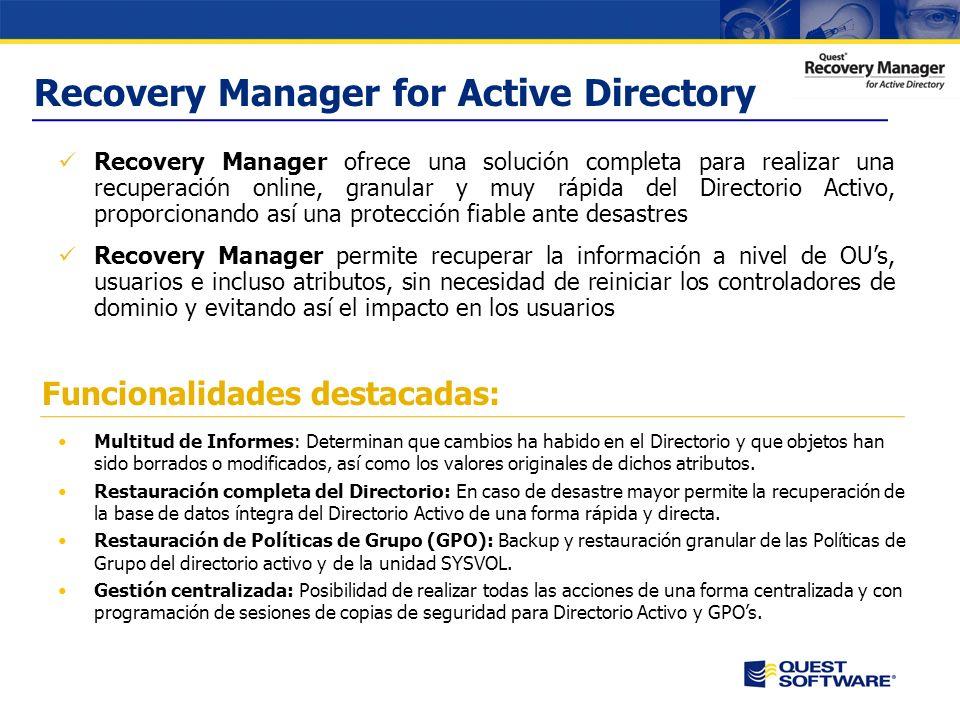 Aspectos críticos del negocio El Directorio Activo es el componente critico de una infraestructura de red y es crucial asegurar su integridad Desastre