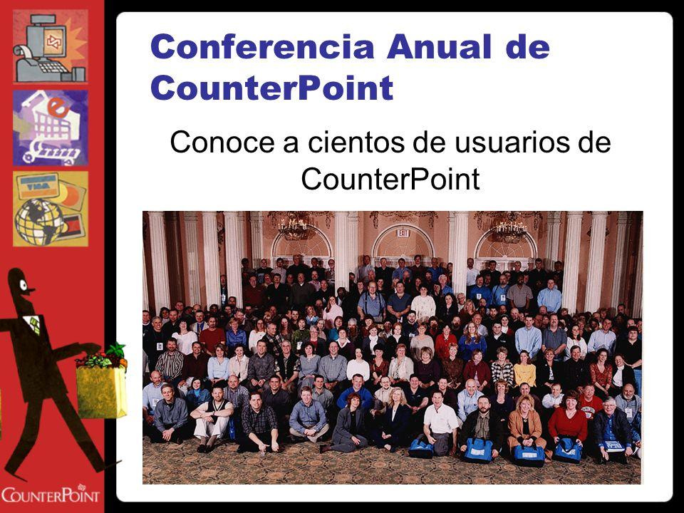 Conferencia Anual de CounterPoint Conoce a cientos de usuarios de CounterPoint