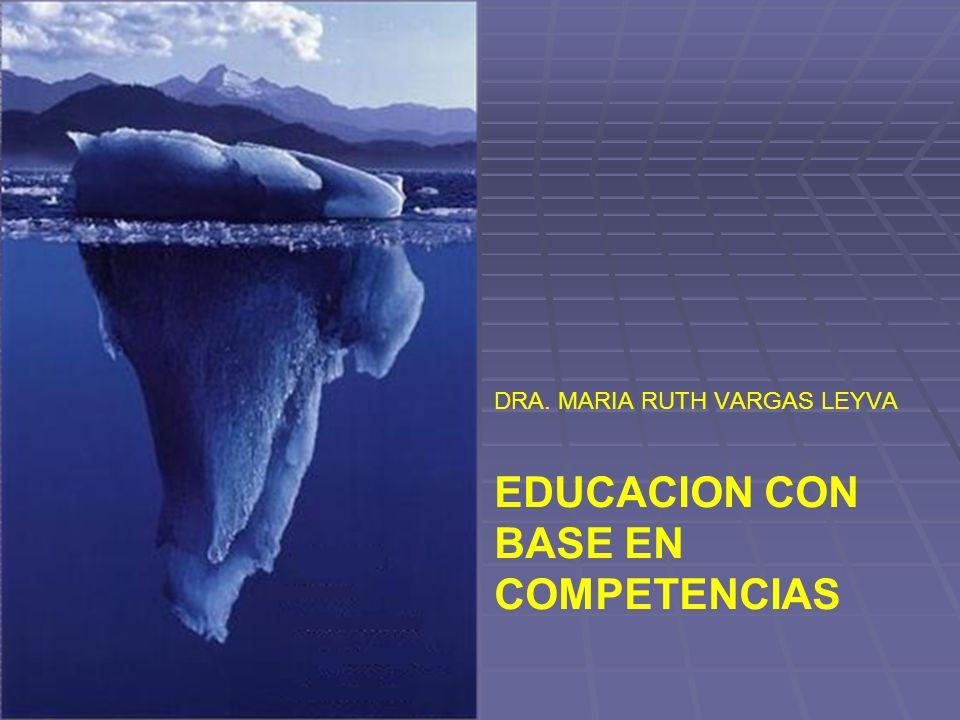 DRA. MARIA RUTH VARGAS LEYVA EDUCACION CON BASE EN COMPETENCIAS