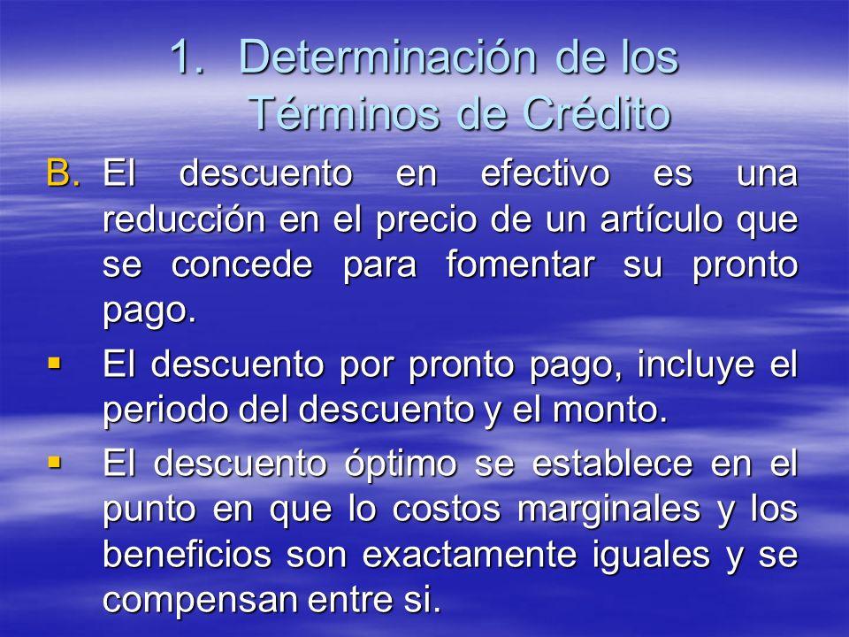 B.El descuento en efectivo es una reducción en el precio de un artículo que se concede para fomentar su pronto pago. El descuento por pronto pago, inc