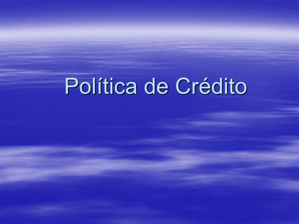 Política de Crédito