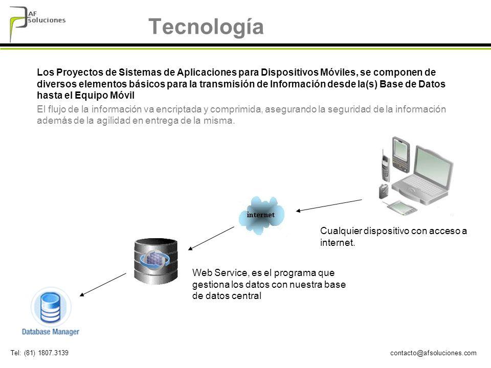 contacto@afsoluciones.comTel: (81) 1807.3139 Tecnología Los Proyectos de Sistemas de Aplicaciones para Dispositivos Móviles, se componen de diversos e