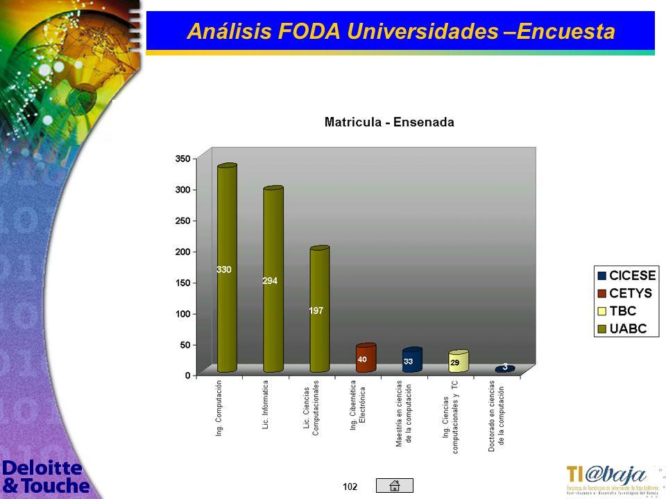 101 Análisis FODA Universidades –Encuesta
