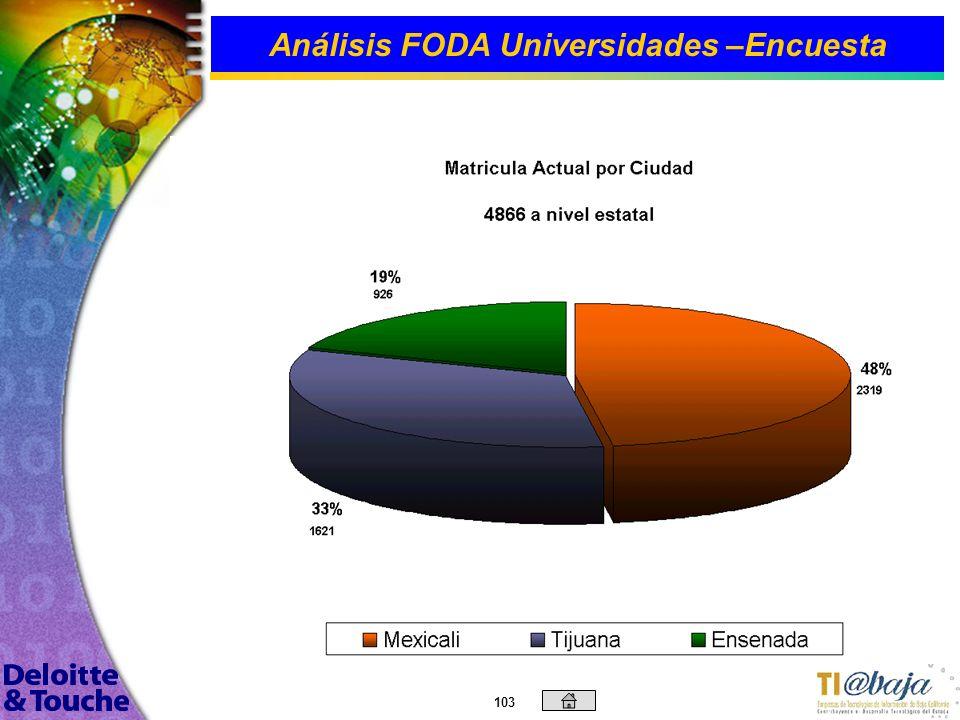 102 Análisis FODA Universidades –Encuesta