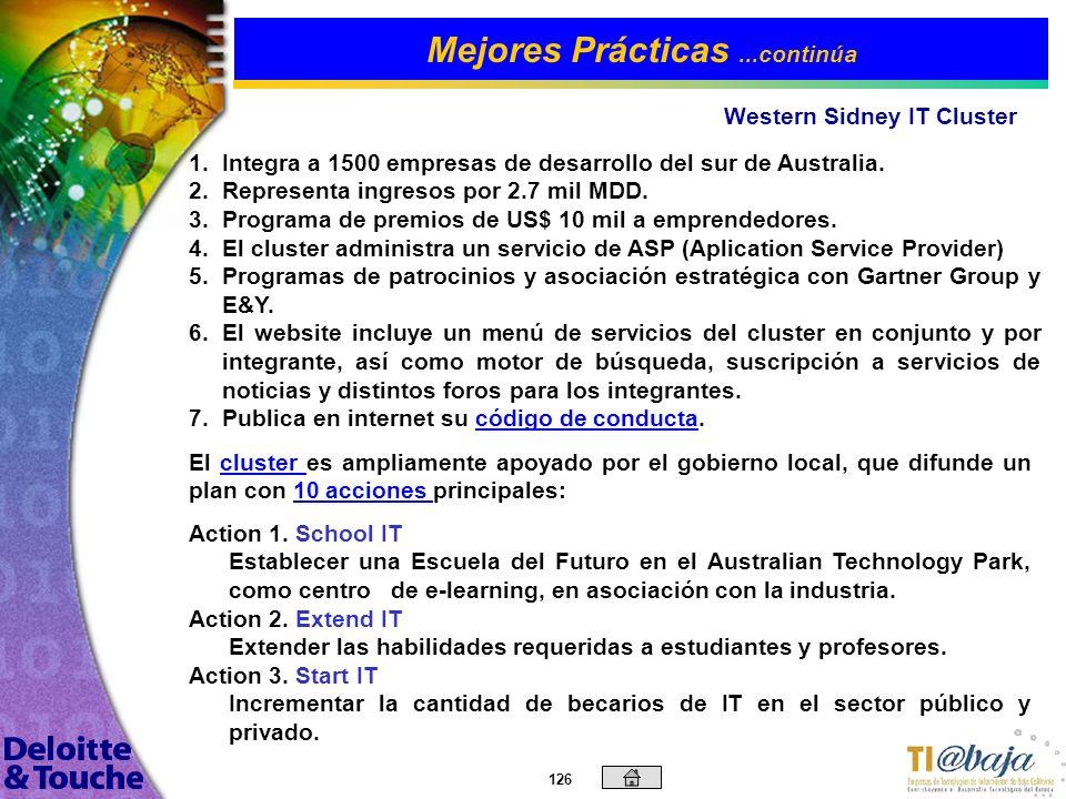 125 SEI CMM C.M.M.P.C.M.M. Mejores Prácticas...continúa Wipro Technologies