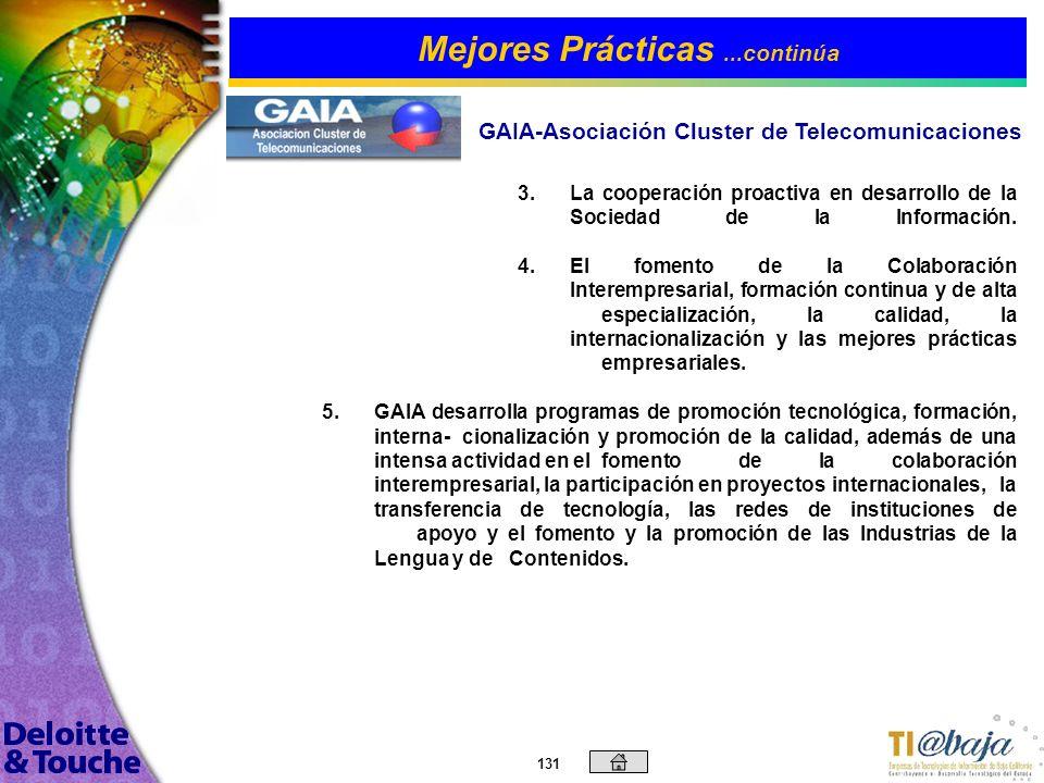 130 GAIA es una asociación de carácter privado y profesional, no lucrativa, que tiene su origen en la Asociación de Industrias Electrónicas del País V