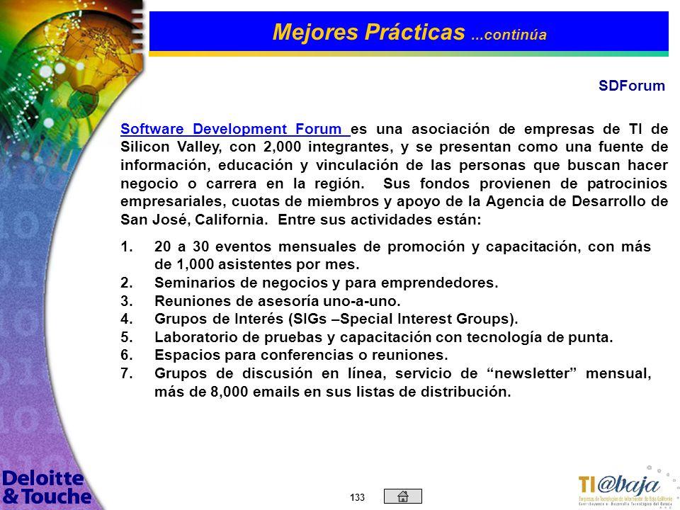132 Mejores Prácticas...continúa GAIA-Asociación Cluster de Telecomunicaciones La organización de GAIA muestra una estructura jerárquica con funciones