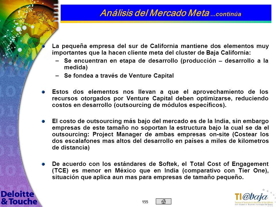 154 h Categorización de las empresas del Sur de California en base a: Cant. Aprox Grado de Madurez Etapa Financiera Base de Crecimiento AAI / TMSEsque