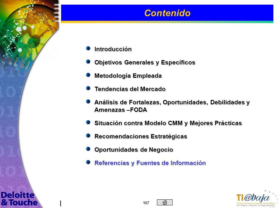 166 Roadmap oportunidades de negocios 2/2 Desarrollo interno de la industria /Conformación TI@Baja (AC e Integradora) TI@Baja Desarrollo del Cluster T