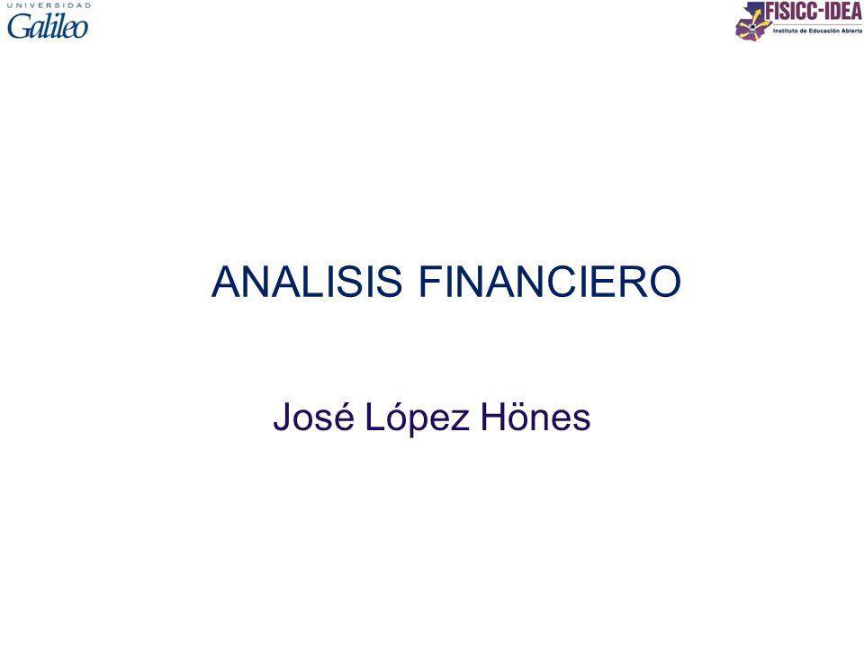 ANALISIS FINANCIERO José López Hönes