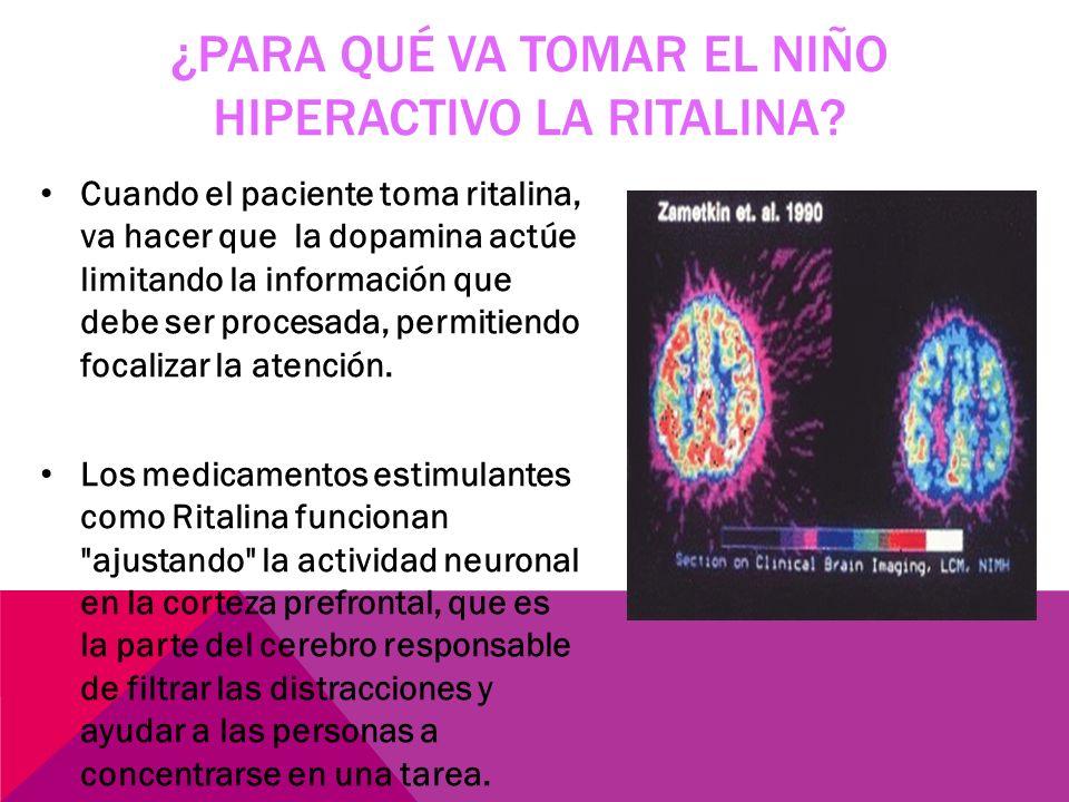 Cuando existe hiperactividad no se regula correctamente la liberación de estos neurotransmisores y hay deficiencia de las mismas por lo tanto se prese