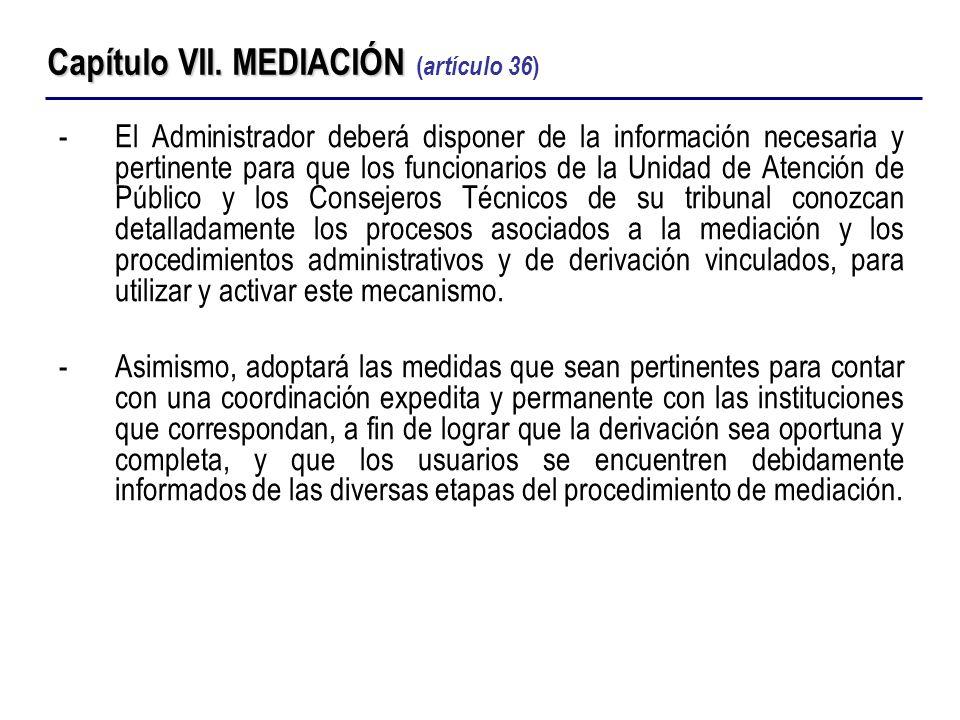 -El Administrador deberá disponer de la información necesaria y pertinente para que los funcionarios de la Unidad de Atención de Público y los Conseje