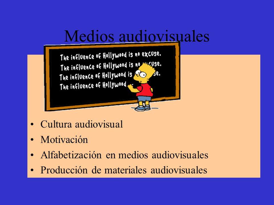 Medios audiovisuales Cultura audiovisual Motivación Alfabetización en medios audiovisuales Producción de materiales audiovisuales