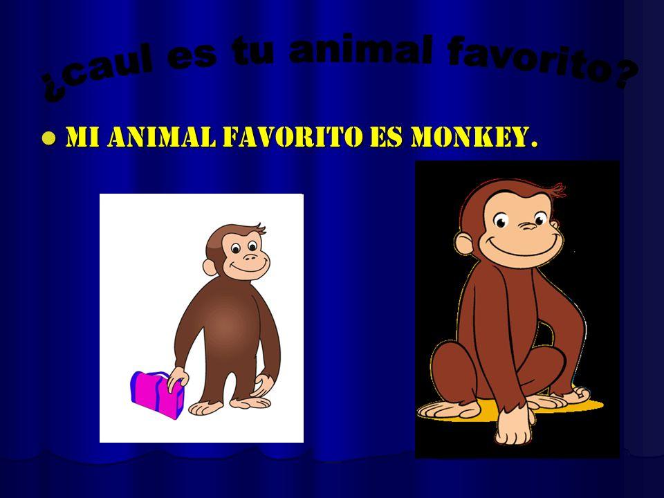 Mi animal favorito es monkey. Mi animal favorito es monkey.