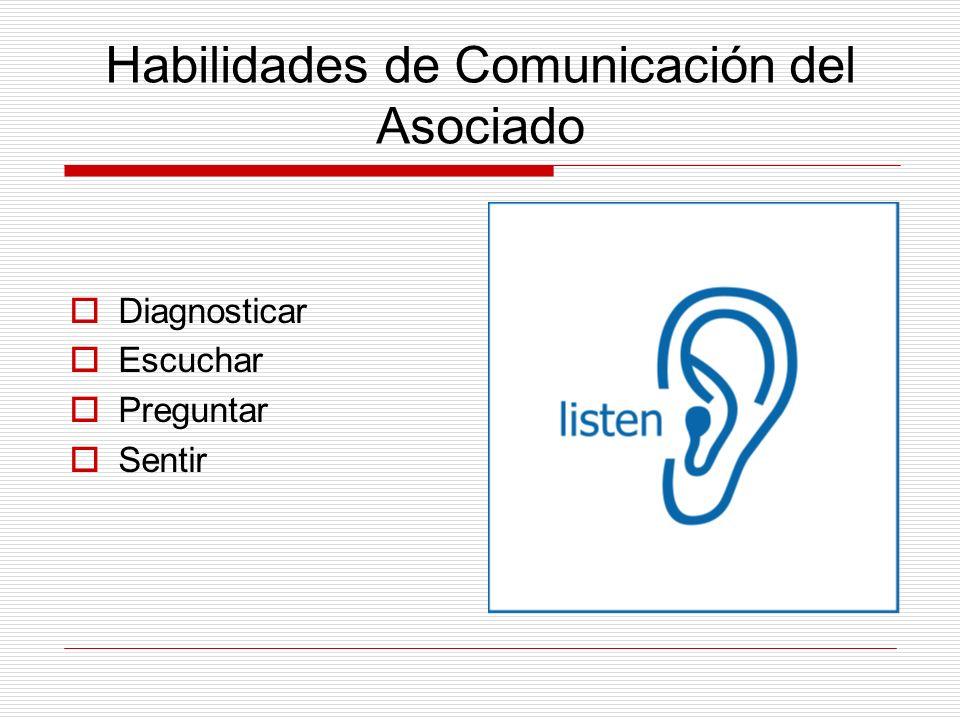 Habilidades de Comunicación del Asociado Diagnosticar Escuchar Preguntar Sentir