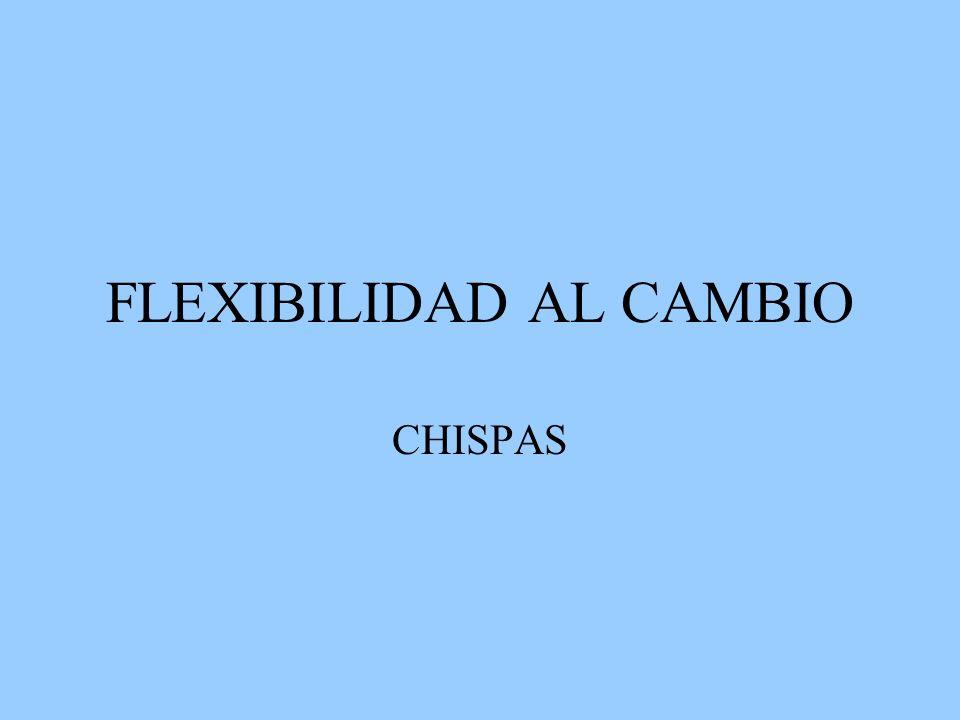FLEXIBILIDAD AL CAMBIO CHISPAS