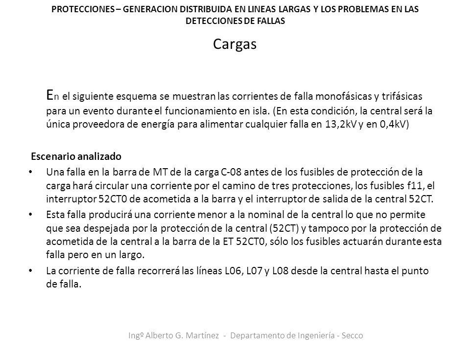PROTECCIONES – GENERACION DISTRIBUIDA EN LINEAS LARGAS Y LOS PROBLEMAS EN LAS DETECCIONES DE FALLAS Ingº Alberto G.