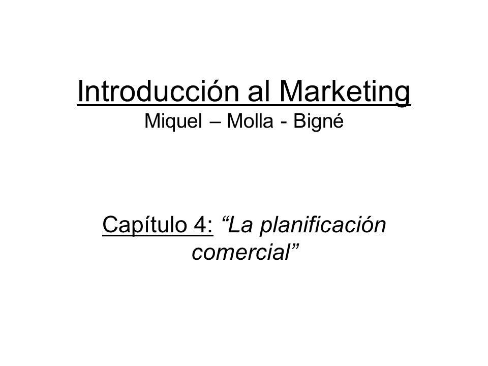 Introducción al Marketing Miquel – Molla - Bigné Capítulo 4: La planificación comercial