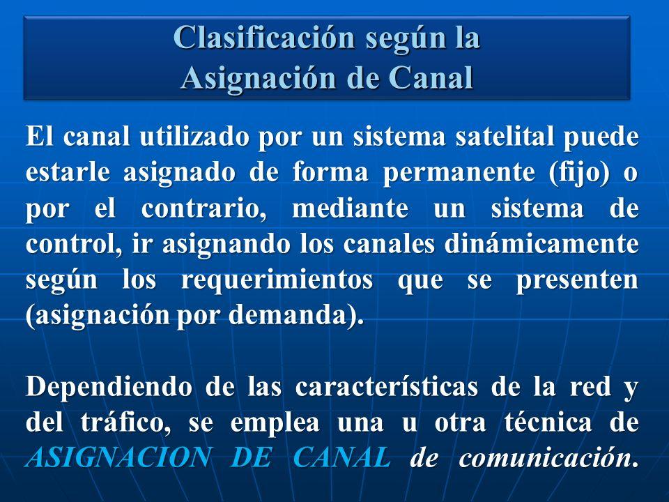 El canal utilizado por un sistema satelital puede estarle asignado de forma permanente (fijo) o por el contrario, mediante un sistema de control, ir a