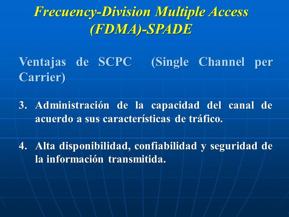Frecuency-Division Multiple Access (FDMA)-SPADE Ventajas de SCPC (Single Channel per Carrier) 3.Administración de la capacidad del canal de acuerdo a