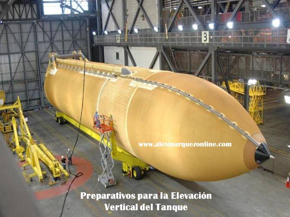 Preparativos para la Elevación Vertical del Tanque www.alexmarquezonline.com