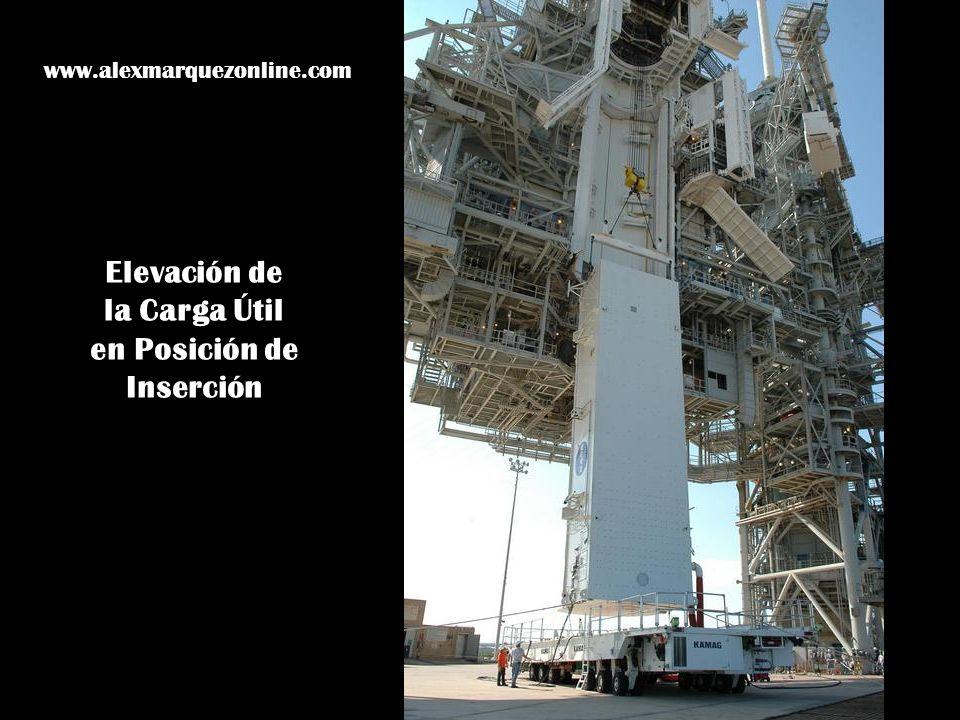 Elevación de la Carga Útil en Posición de Inserción www.alexmarquezonline.com
