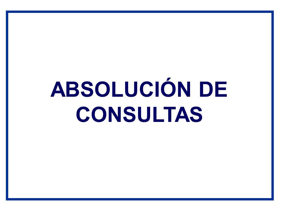 ABSOLUCIÓN DE CONSULTAS