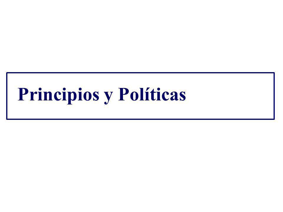 Principios y Políticas