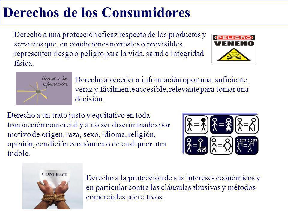 Derecho a una protección eficaz respecto de los productos y servicios que, en condiciones normales o previsibles, representen riesgo o peligro para la