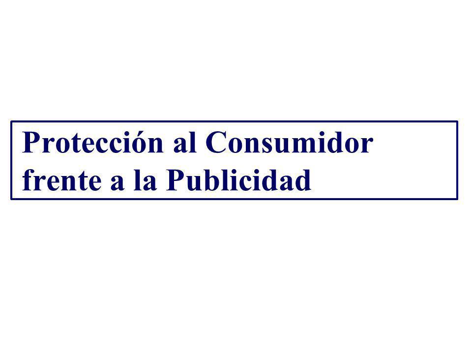 Protección al Consumidor frente a la Publicidad