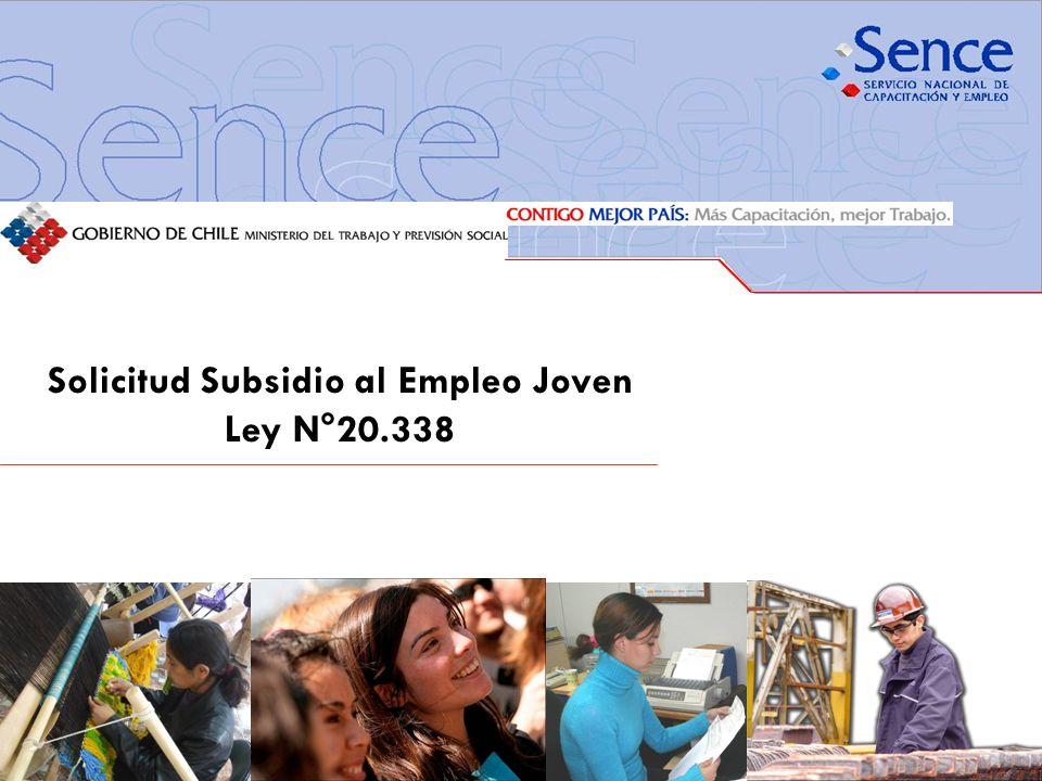 Solicitud Subsidio al Empleo Joven Ley N°20.338