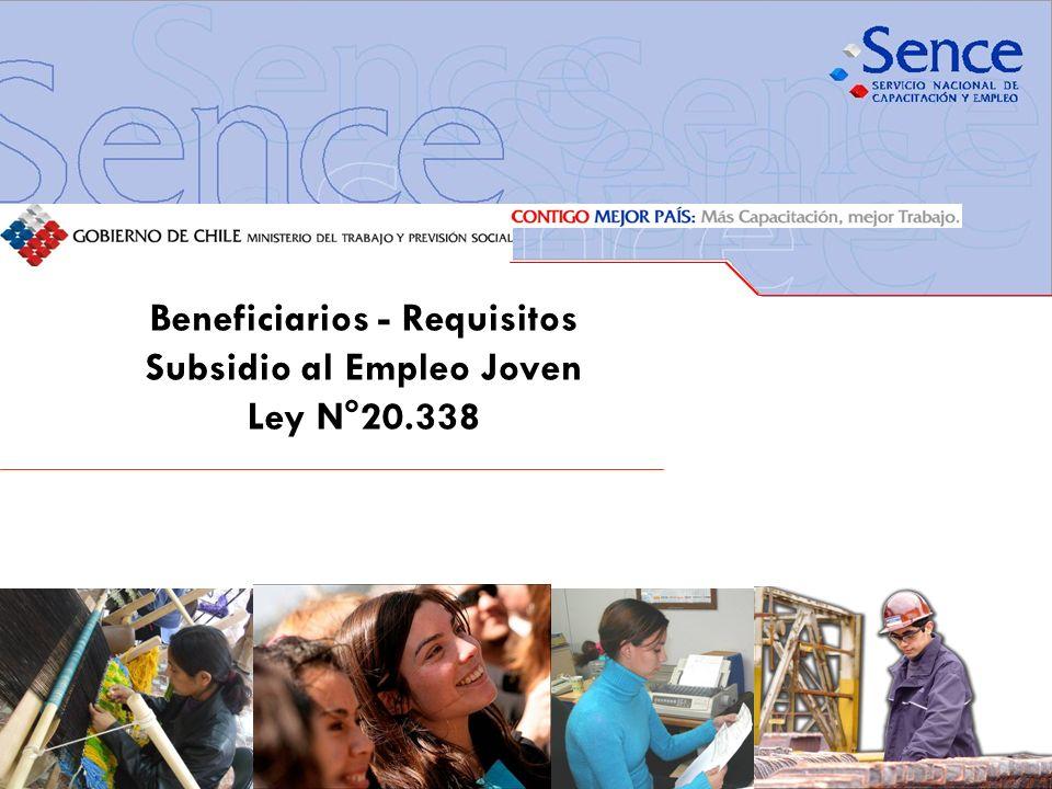 Beneficiarios - Requisitos Subsidio al Empleo Joven Ley N°20.338