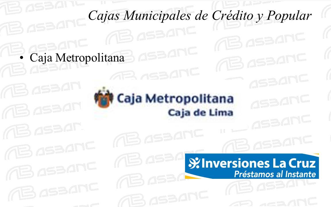 Cajas Municipales de Crédito y Popular Caja Metropolitana
