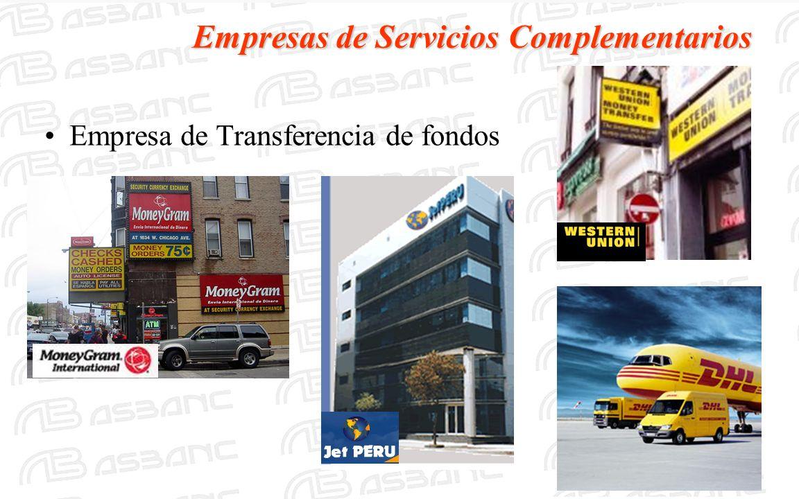 Empresas de Servicios Complementarios Empresa de Transferencia de fondos