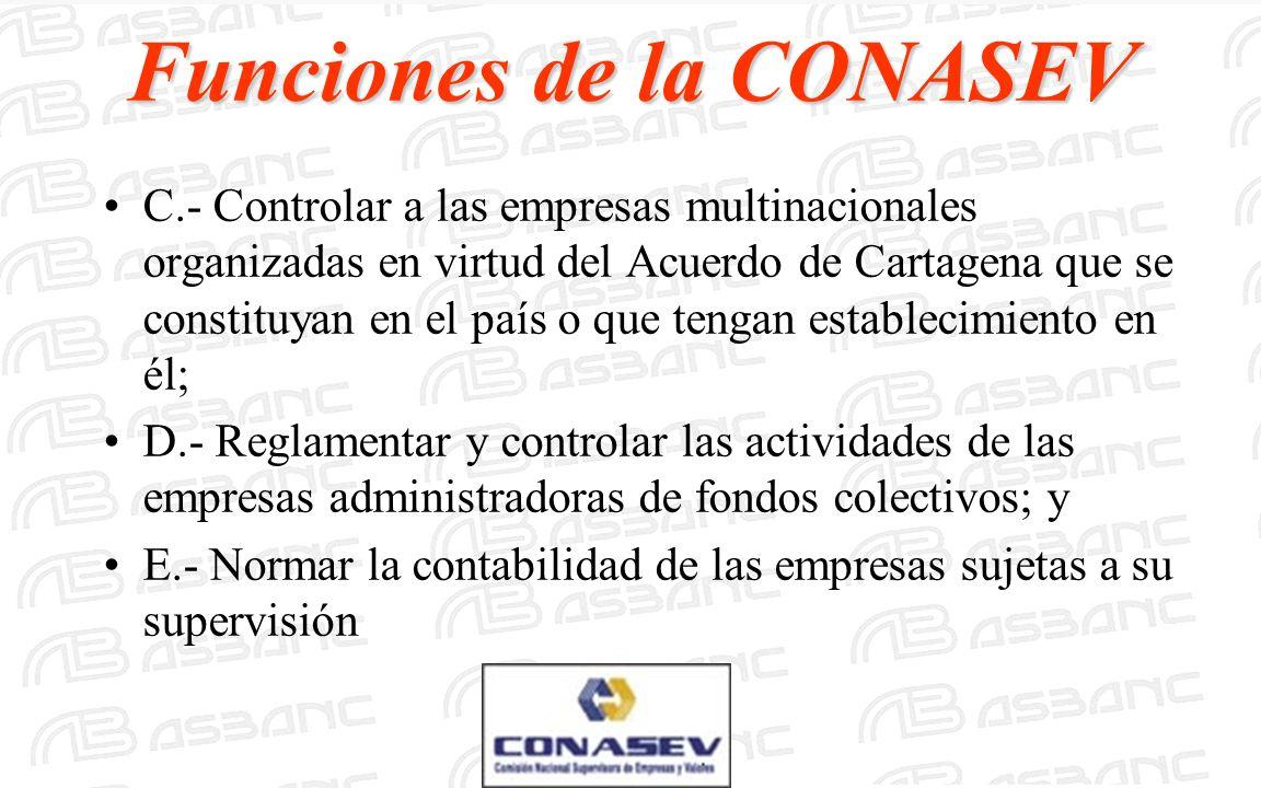 C.- Controlar a las empresas multinacionales organizadas en virtud del Acuerdo de Cartagena que se constituyan en el país o que tengan establecimiento