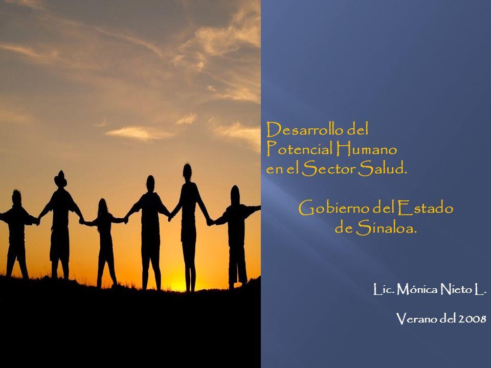 Desarrollo del Potencial Humano en el Sector Salud. Gobierno del Estado de Sinaloa. Lic. Mónica Nieto L. Verano del 2008