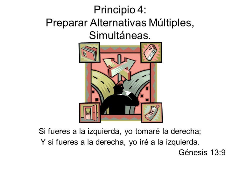 Principio 4: Preparar Alternativas Múltiples, Simultáneas.