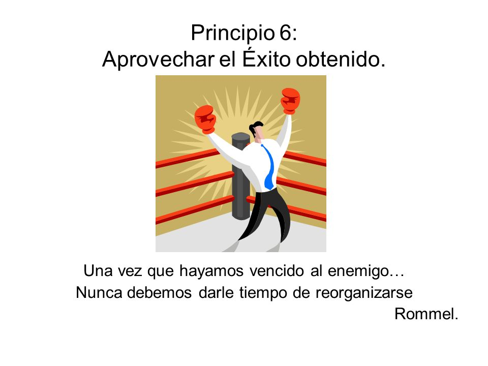 Principio 6: Aprovechar el Éxito obtenido.