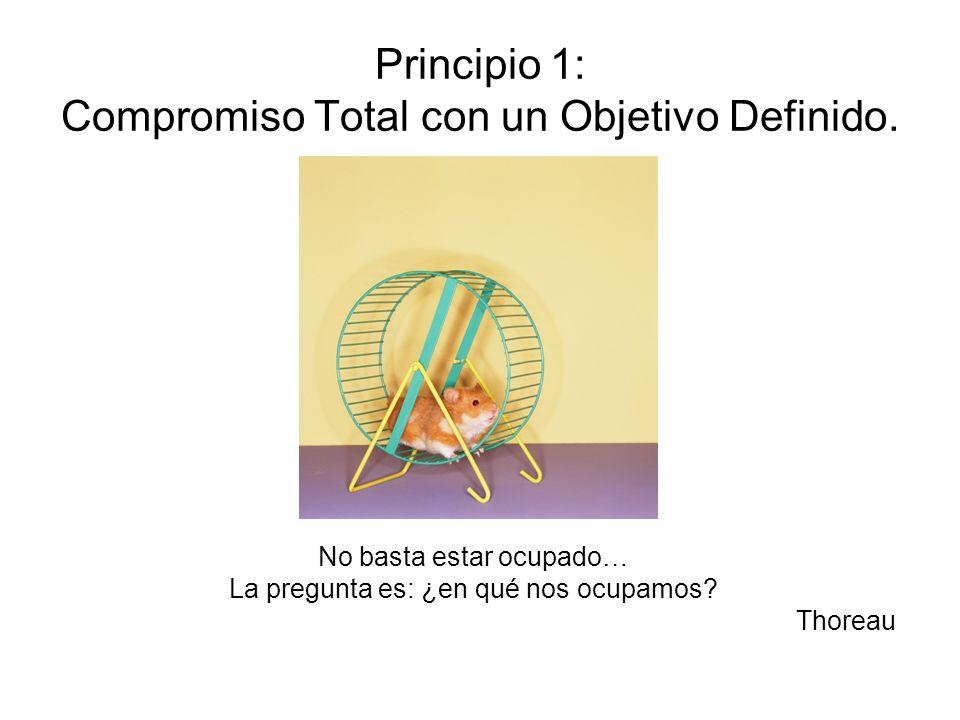 Principio 1: Compromiso Total con un Objetivo Definido.