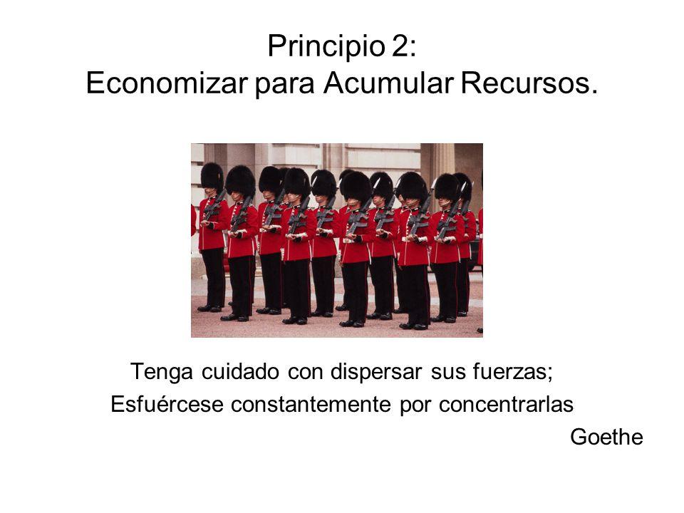 Principio 2: Economizar para Acumular Recursos.